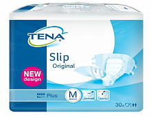 Підгузники TENA Slip Original Plus Medium в талії 73-122 см (30 од.)