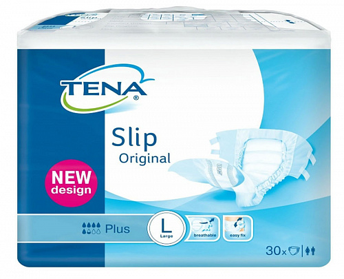 Підгузники TENA Slip Original Plus Large в талії 92-144 см (30 од.)