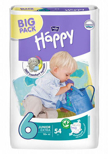 Підгузки Bella Baby Happy 6 Junior Extra (54 од.)