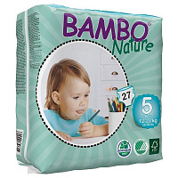 Подгузники Bambo Nature Junior 5 (12-22 кг) 27 шт.