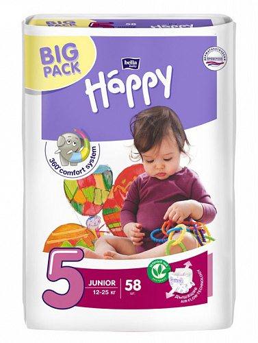 Підгузки Bella Baby Happy 5 Junior (58 од.)