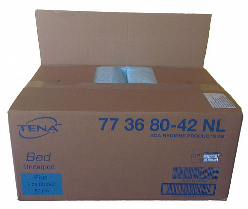 Пелюшки TENA Bed plus 90x60 см (80 од.)