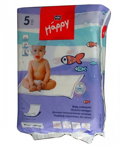 Пелюшки Bella Baby Happy 90x60 см (5 од.)
