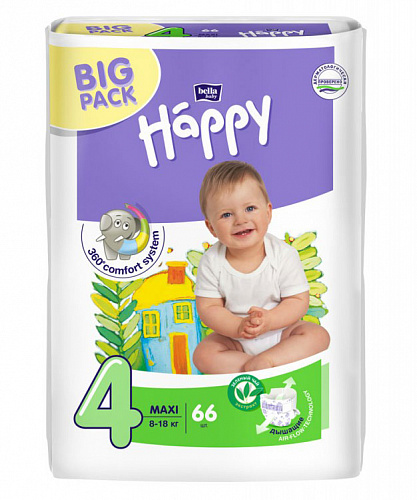 Підгузки Bella Baby Happy 4 Maxi (66 од.)