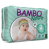 Подгузники Bambo Nature Mini 2 (3-6 кг) 30 шт.