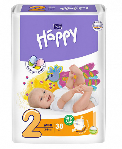 Підгузки Bella Baby Happy 2 Mini (38 од.)